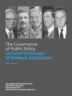 The Governance of Public Policy: Lectures in Honour of Eminent Australians