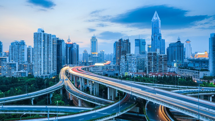 Shanghai highway intersection. Source: Bigstock