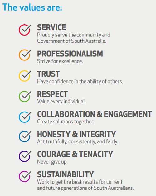 public sector values