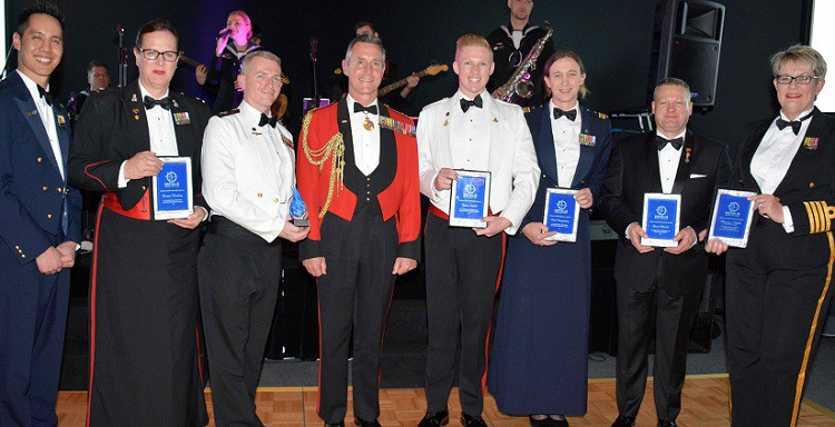 Awards for LGBTI inclusion excellence given at the Military Pride Ball.