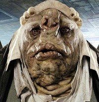 A Vogon from Hitchhikers' Guide to the Galaxy