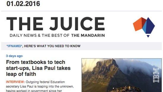 <em>The Juice</em>: your news concentrate, free — and daily