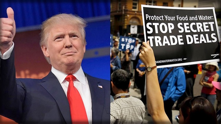 Trump supporters saw free trade deals as a continuedthreat to jobs and local manufacturing.