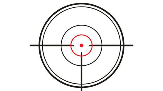 crosshair of the gun on white background, vector