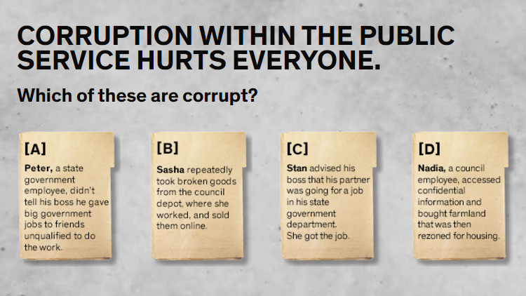 IBAC anti-corruption campaign sheds light on grey areas