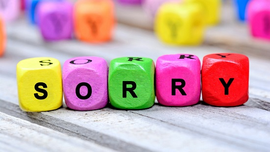 Sorry seems to be the hardest word — but try to say it