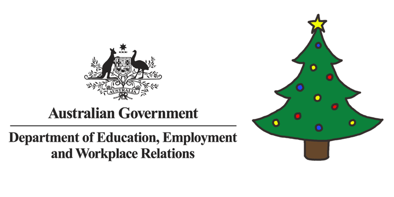 A department that doesn't exist anymore is having work Christmas drinks
