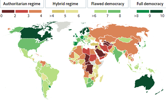 Australia stays in top 10 in global democracy index