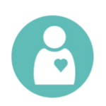 patient with heart icon