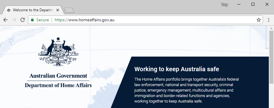 Why the Home Affairs website was pinged as a security risk