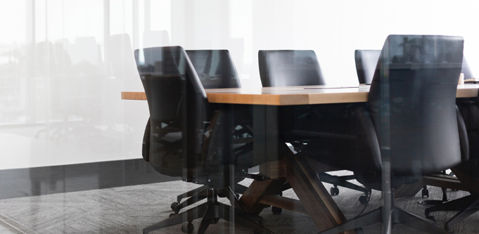 black chairs boardroom