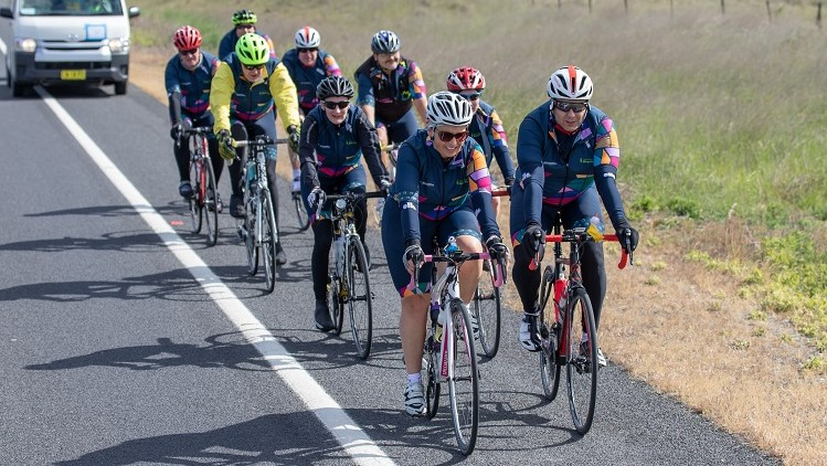 Public service charity cycle team cracks $288k in donations to Canberra disability service