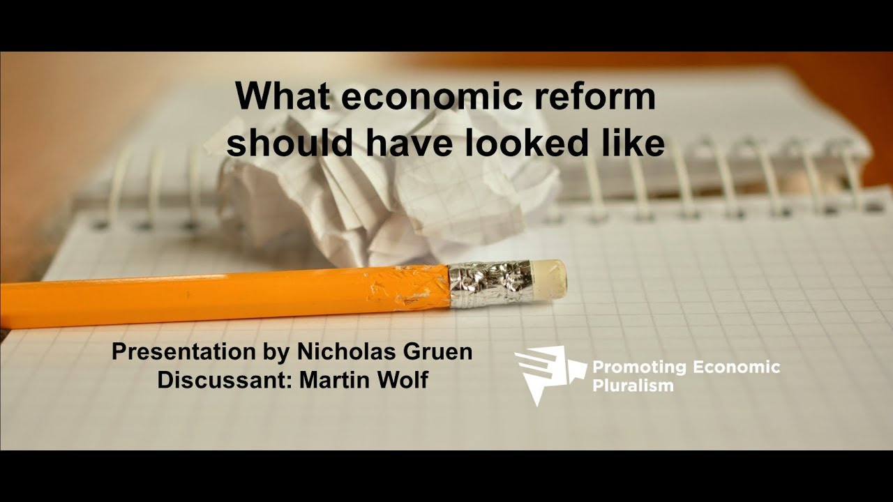 What economic reform thinking might have looked like – if we'd bothered to do it