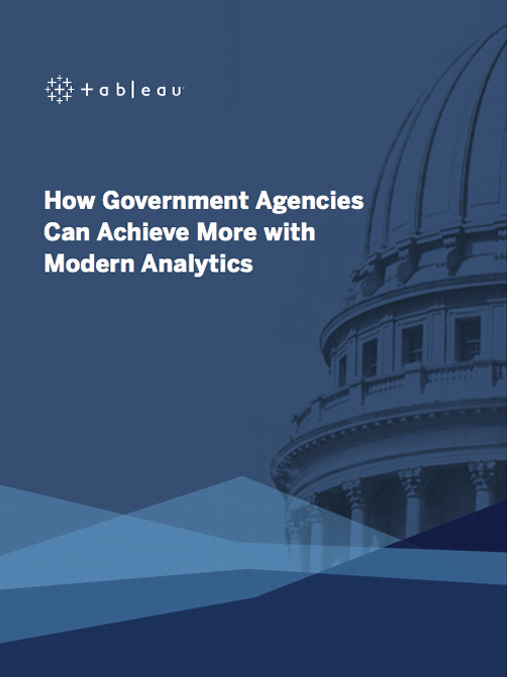 eBook: How government agencies can achieve more with modern analytics image