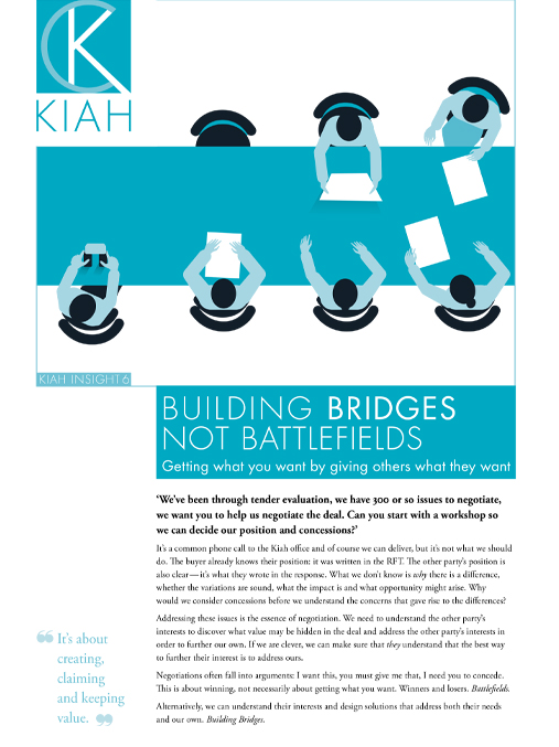eBook: Building bridges, not battlefields: a guide to effective negotiation image