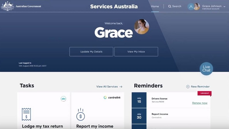 The Facebook of government: watch the 'vision' of what Services Australia will deliver