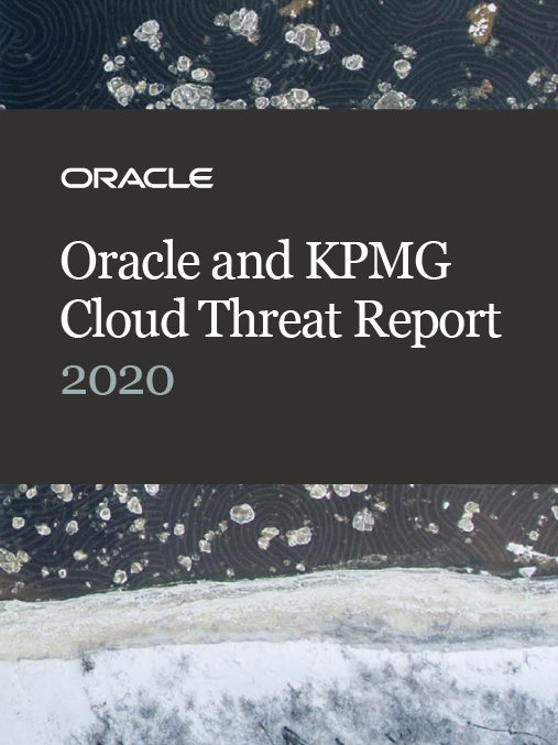 eBook: Oracle and KPMG Cloud Threat Report 2020 image