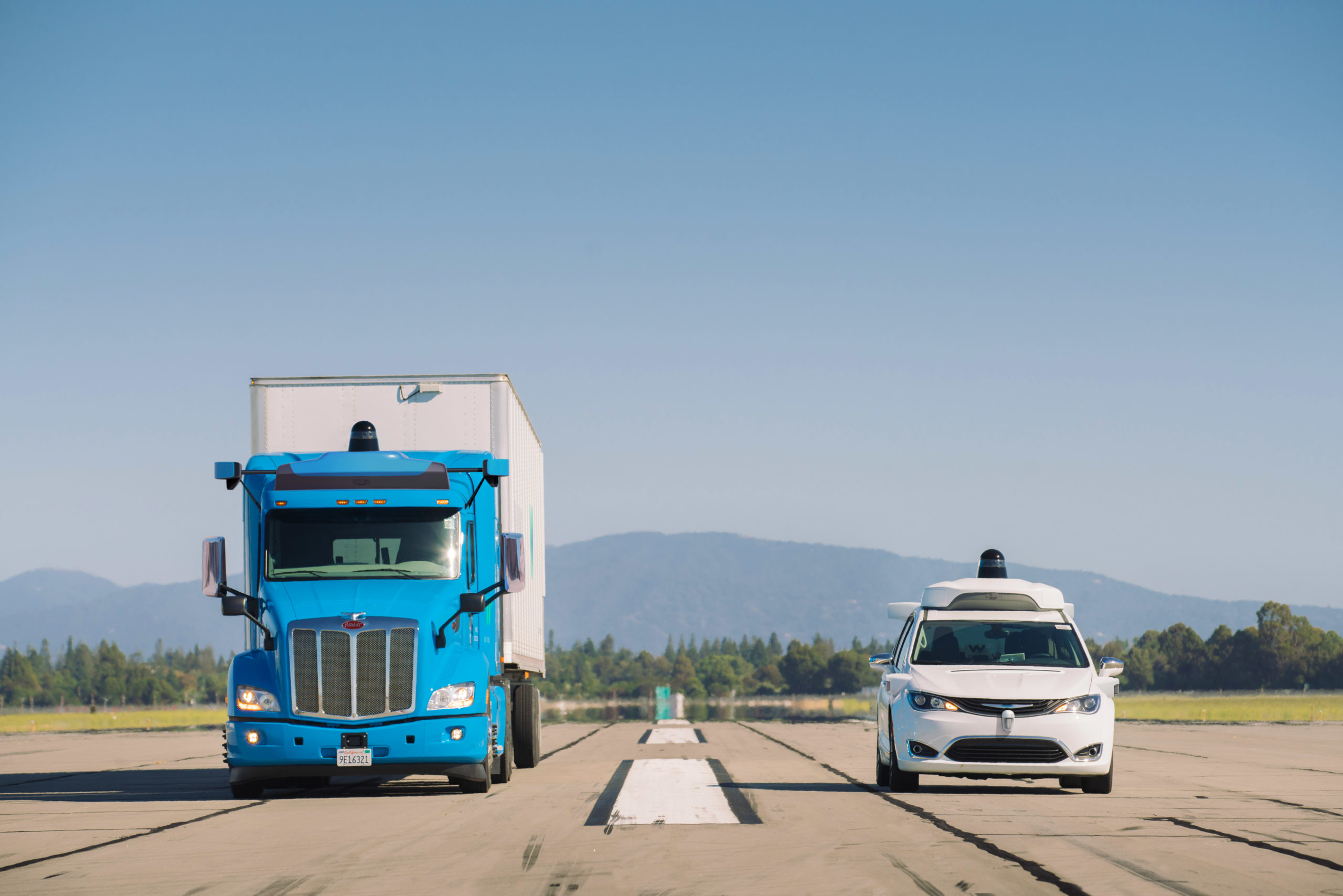 Waymo just started testing its driverless trucks in Texas