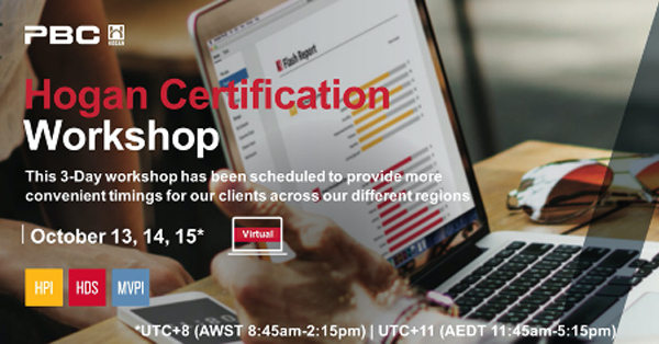 Hogan Certification 3 -Day Workshop for selection, talent identification and development. image