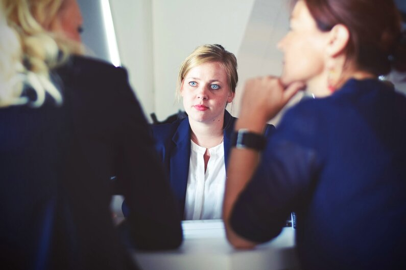 woman-at-a-group-interview