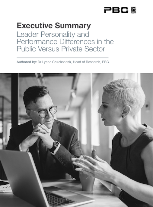 Whitepaper: Leader personality and performance differences in the public versus private sector