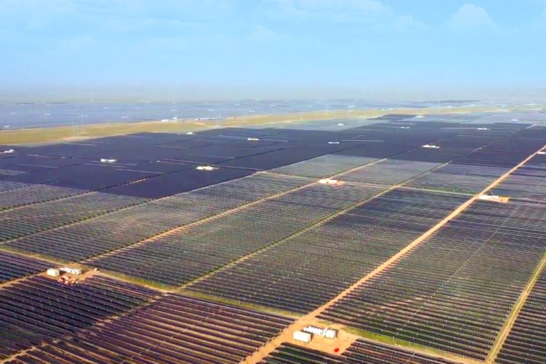 A ridiculously huge new solar farm just came online in China