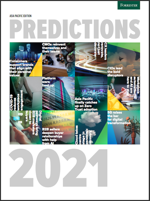 Forrester Asia Pacific Predictions 2021 Guide image