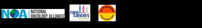 NOA Rare Cancers Minderoo Foundation Logos