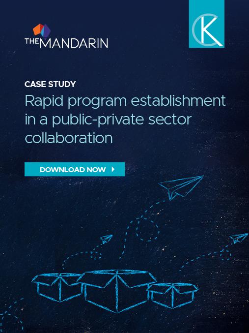 Rapid program establishment in a public-private sector collaboration