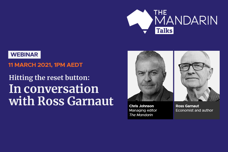 Mandarin Talks: Hitting the reset button: In conversation with Ross Garnaut