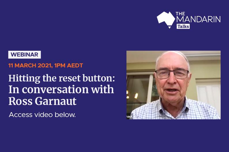 [Watch Now] Mandarin Talks: Hitting the reset button: In conversation with Ross Garnaut