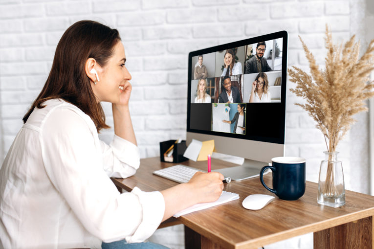 remote work video conference