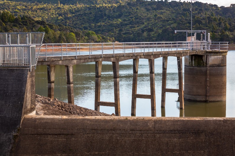 dam spanning a river in Auckland, which Jon Lamonte now oversees