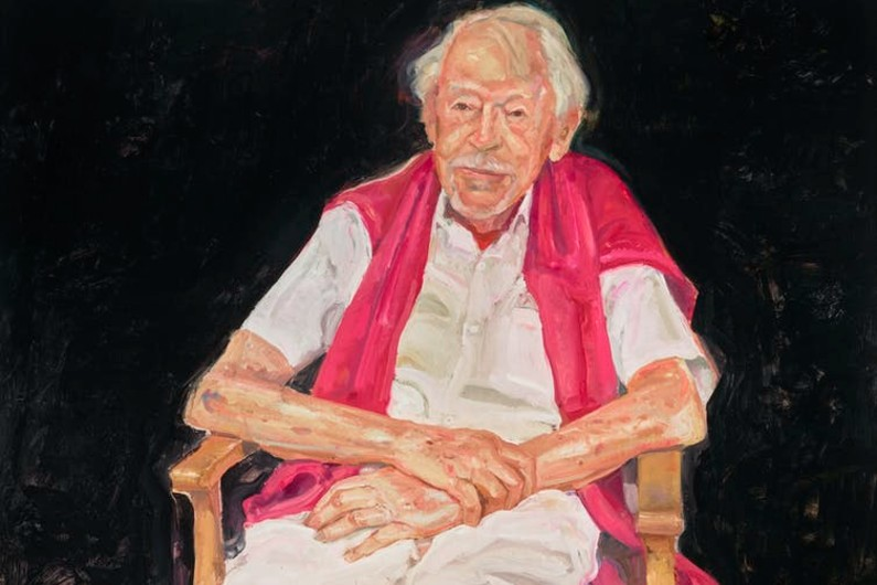 Peter Wegner's portrait of Guy Warren at 100 wins the 100th Archibald Prize