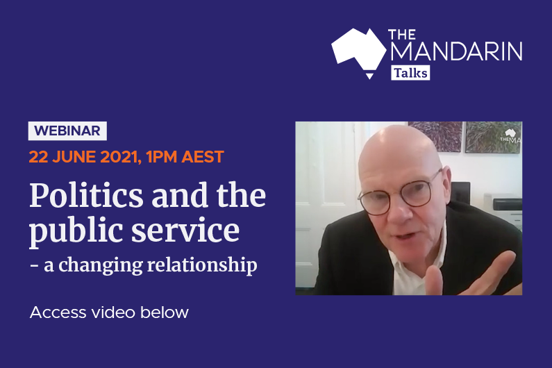 [Watch] Mandarin Talks: Politics and the public service – a changing relationship
