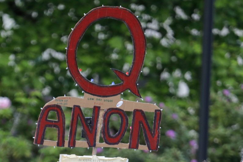 Radical opinion is not radical action. Your QAnon friend is embarrassing — and that's all
