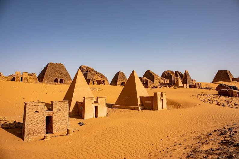 Sudan's 'forgotten' pyramids risk being buried by shifting sand dunes