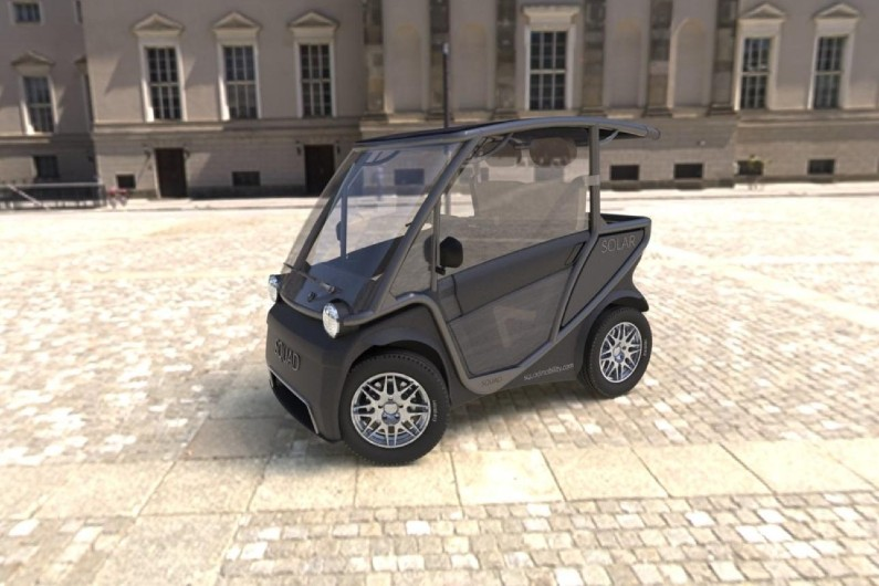 This tiny electric car is solar-powered and costs $6,800