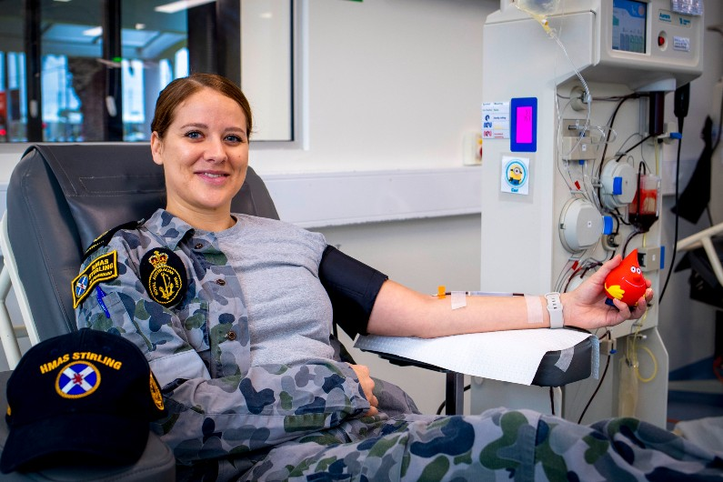 Defence blood donation drive in WA