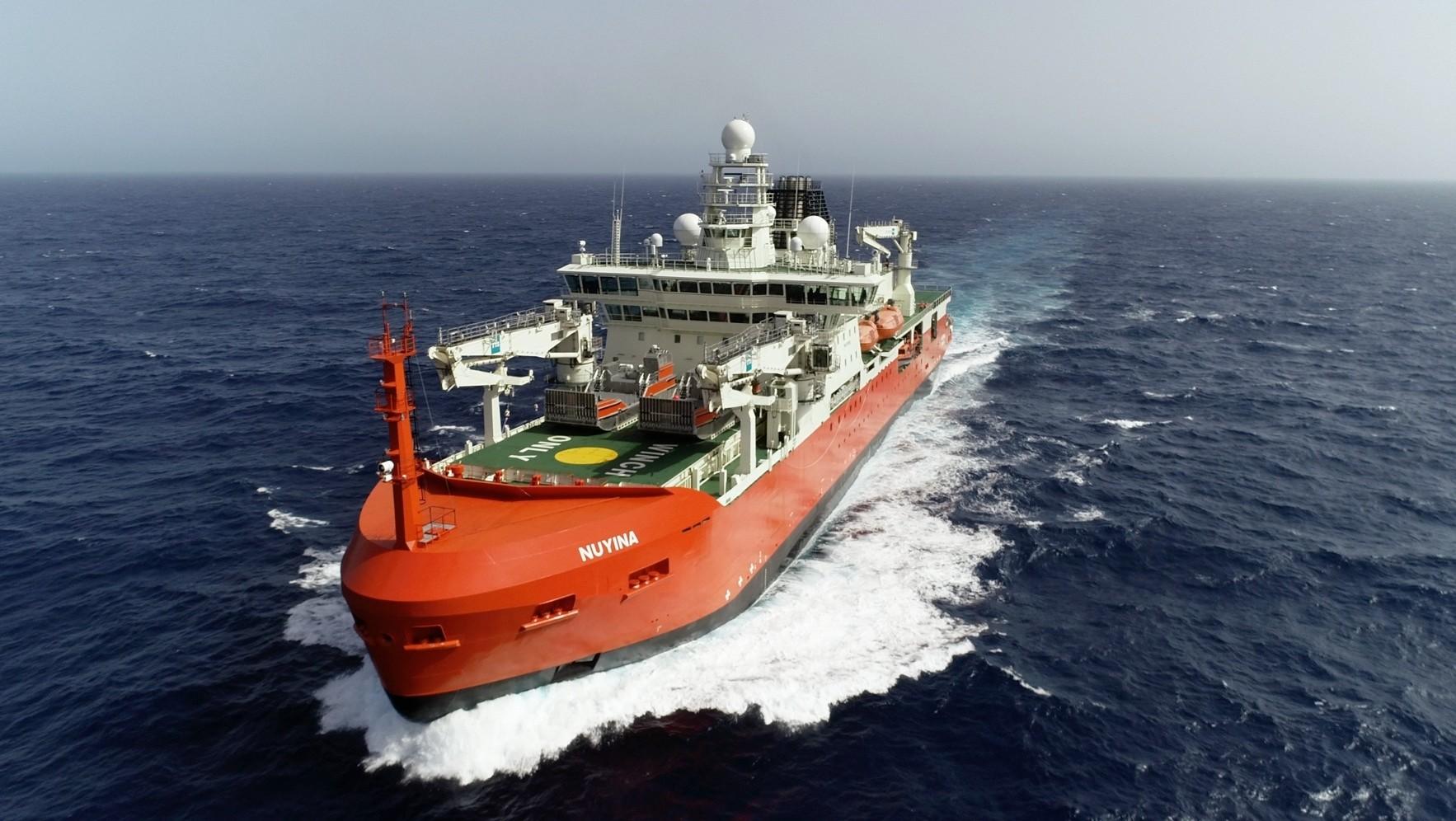 Australia's world-leading icebreaker about to arrive in Hobart