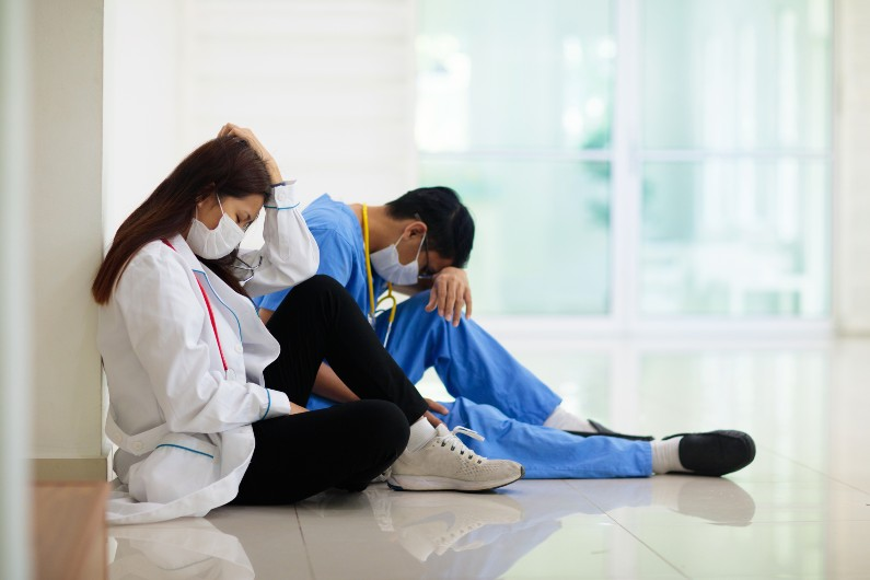 The burnout rate of medical staff is predicted to be 68% post pandemic.